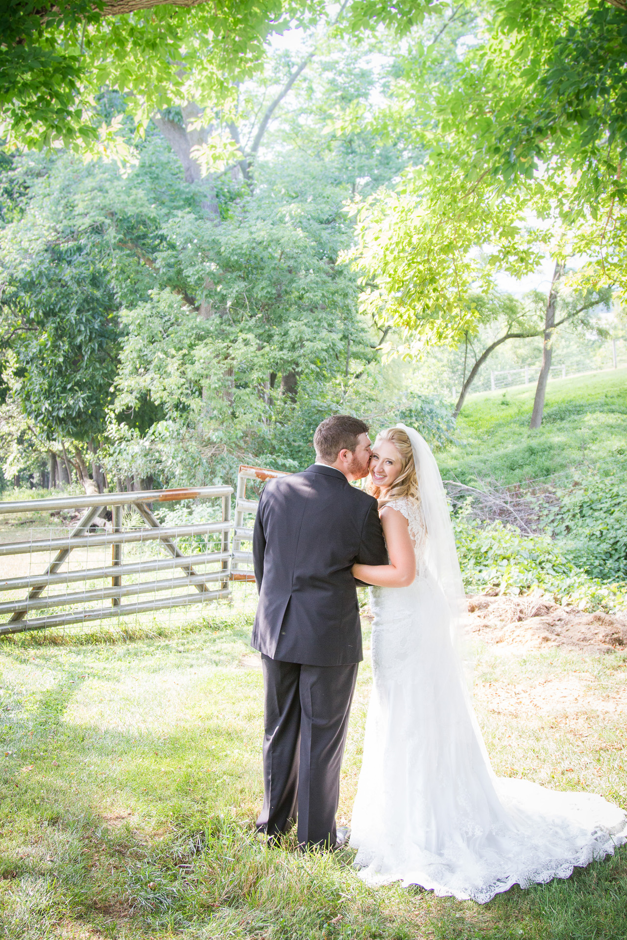 Bride and Groom Farm Wedding